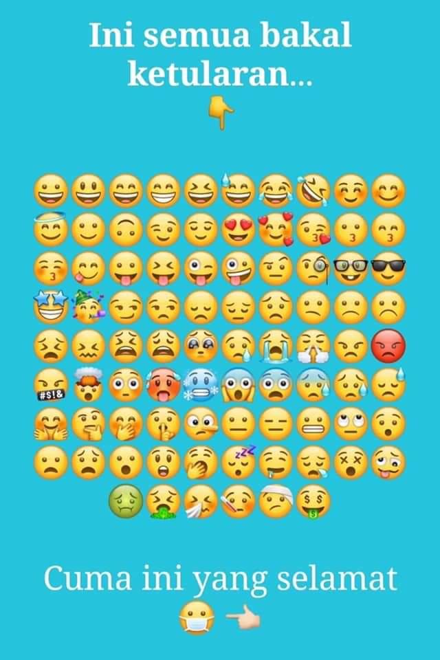 The only emoji that survives the covid-19 novel, hanya satu emoji yang pasti selamat dari wabah virus corona covid-19