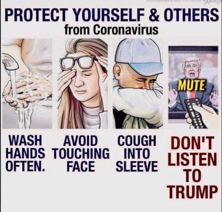 how to protect yourself & others from coronavirus meme