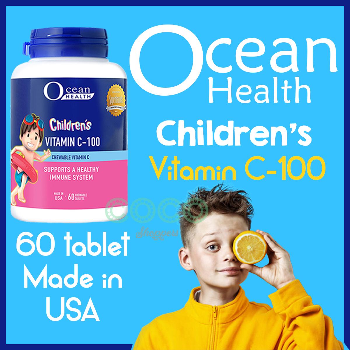 ocean health vitamin c untuk anak-anak usia umur 5 6 7 8 9 10 11 12 tahun, pengganti blackmores, nature's way, childlife, sambucol, wellness