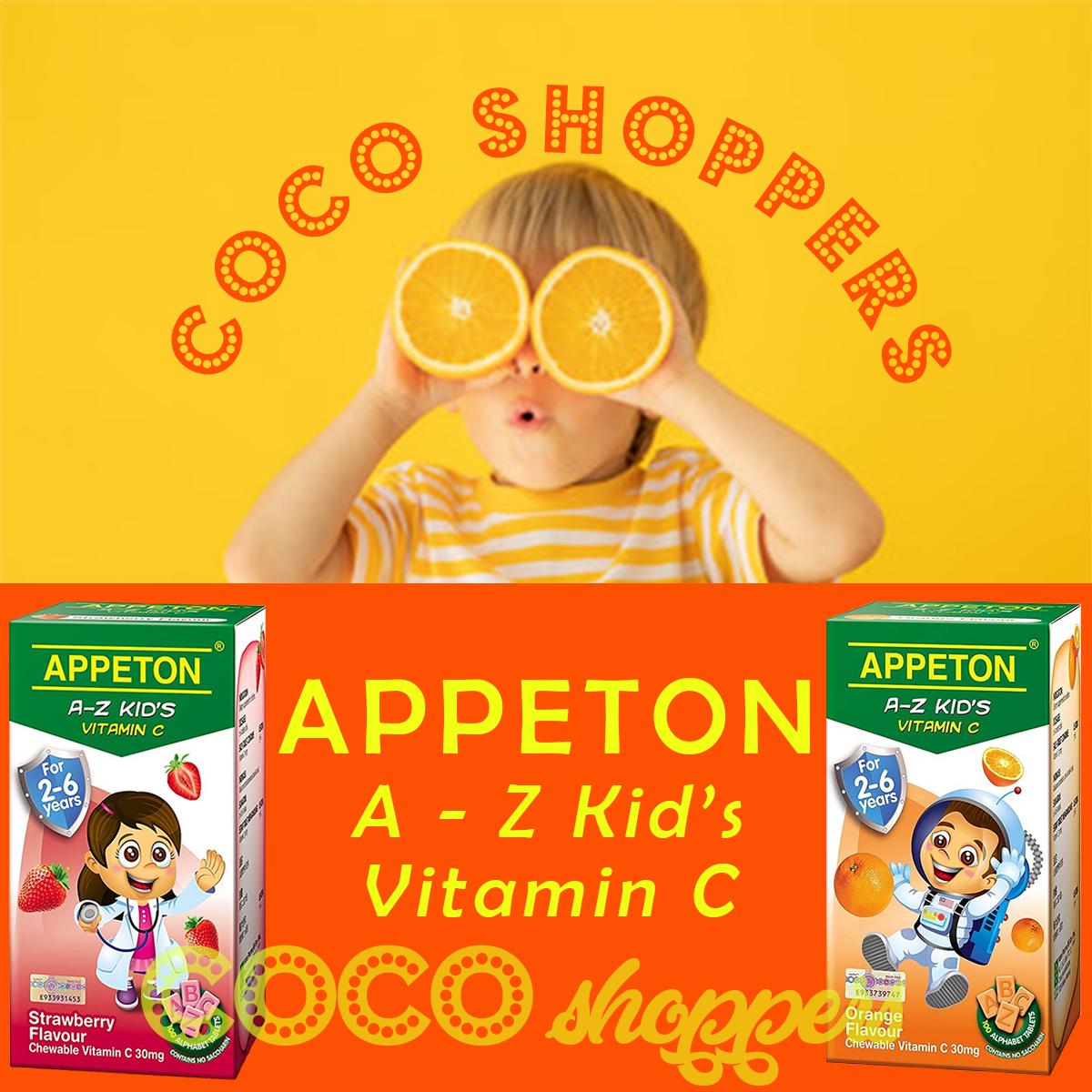 appeton a-z kid's vitamin c anak-anak umur 2-4 tahun produk kesehatan import dari amerika usa untuk reseller dropshipper penjual di tokopedia tokped shopee bukalapak lazada