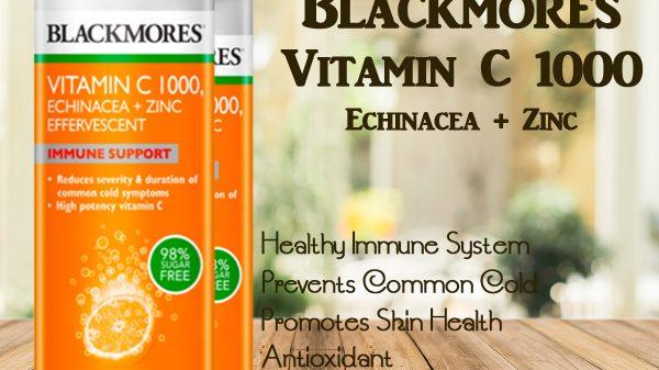 blackmores effervescent seperti cdr dengan vitamin C 1000mg, echinacea dan Zinc sama dengan bio c dan buffered c