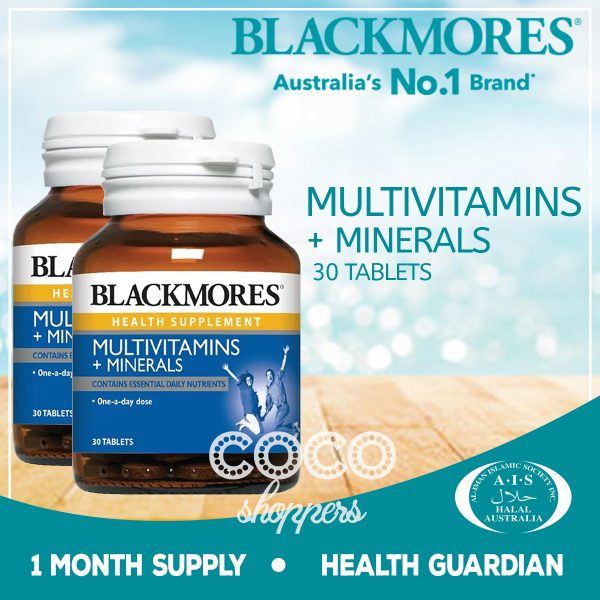 blackmores multivitamins+minerals kecil isi 30 tablets dilengkapi zinc, vitamin d3, vitamin E, vitamin B kompleks complex, calcium, magnesium, iron, vitamin B12, vitamin A, inositol, folic acid atau asam folat