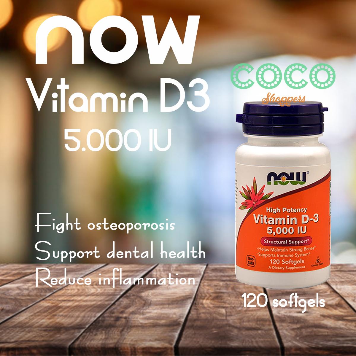 Now vitamin d-3 5000IU, setara blackmores, swisse, nature's way, vitamin australia, aussie, amrik, amerika, us, usa, jual murah di tokopedia