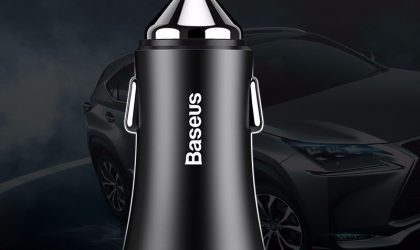 BASEUS Golden Contactor Dual U Intelligent Car Charger - Black