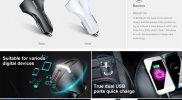 BASEUS QC 3.0 Car Charger 5V 3A