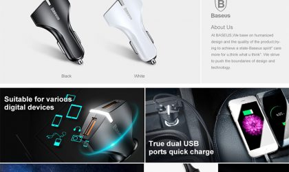 BASEUS QC 3.0 Car Charger 5V 3A