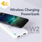 HIPPO Ilo W2 10000mAh Wireless Power Bank - White