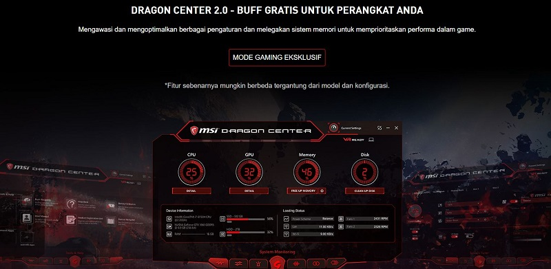 specs spec spek spesifikasi specification MSI GF63 9RCX - 622