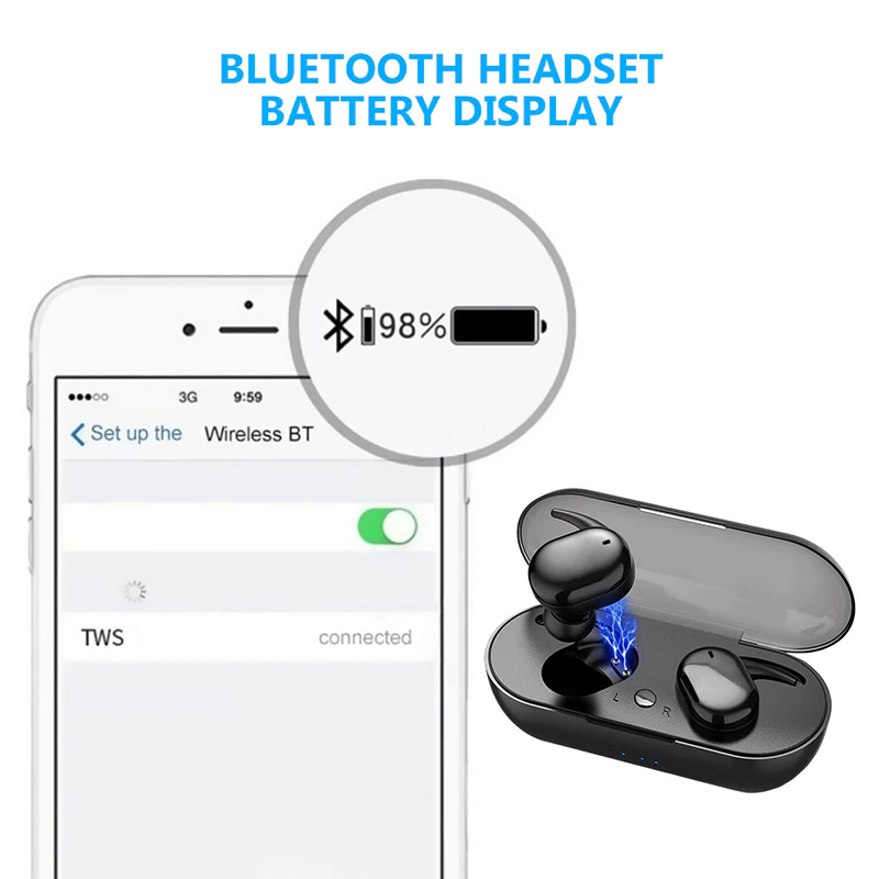 Shark TWS Y30 Bluetooth Wireless Earphone terbaik termurah original