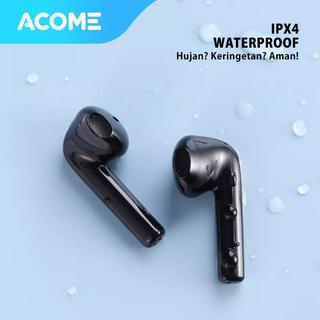 Acome Headset Earphone Bluetooth 5.0 TWS LED Earbuds Garansi Resmi 1 Tahun Airdots T2