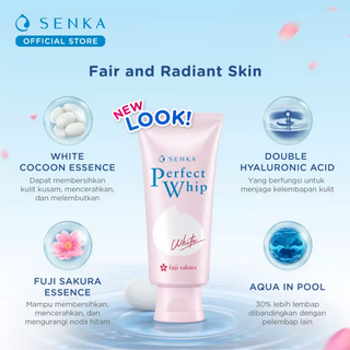 Facial Foam Set - Senka Perfect Whip Vibrant White (100g)