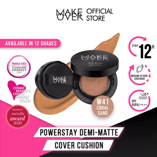 MAKEOVER Powerstay Demi-Matte Cover Cushion W41 Coral Sand