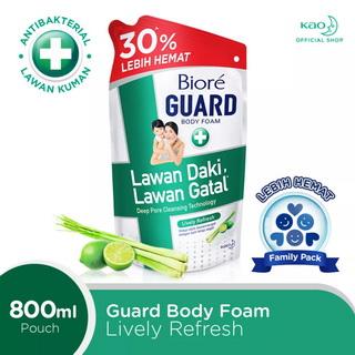 biore body wash guard lively fresh scent refill pouch 800ml